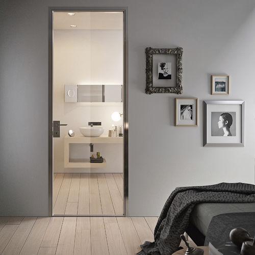 verglaste Tür / Innenbereich / einflügelig / Aluminium