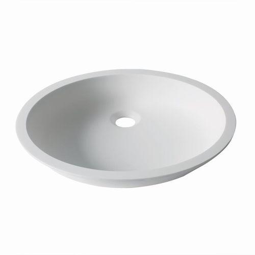 Unterbauwaschbecken / oval / aus Krion® / modern