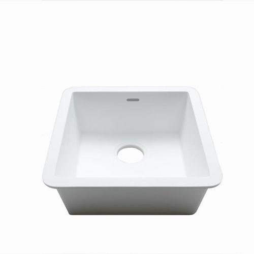 Spüle / 1 Becken / aus Krion® / quadratisch
