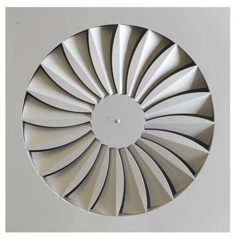 deckenmontierter Luftdiffusor / quadratisch / Schlitz
