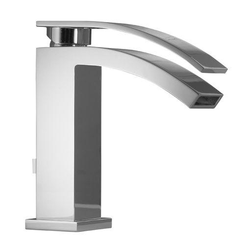 Einhebelmischer für Waschtisch / für Theken / aus verchromtem Messing / Badezimmer