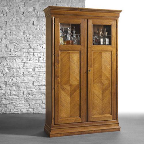 klassische Vitrine / Glas / Holz