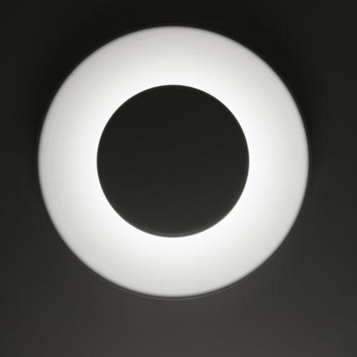 moderne Wandleuchte / gestrichenes Aluminium / LED / rund
