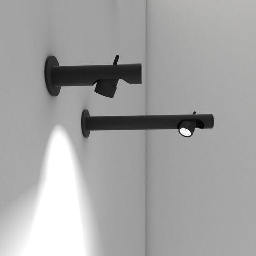 moderne Wandleuchte / anodisiertes Aluminium / LED / linear