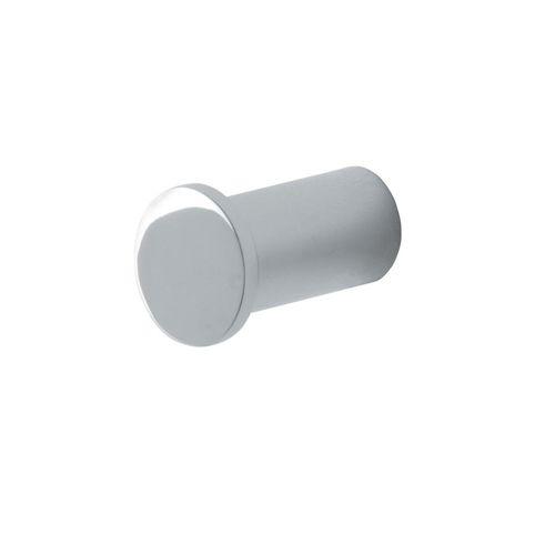 moderner Garderobenhaken / verchromtes Metall / für Badezimmer