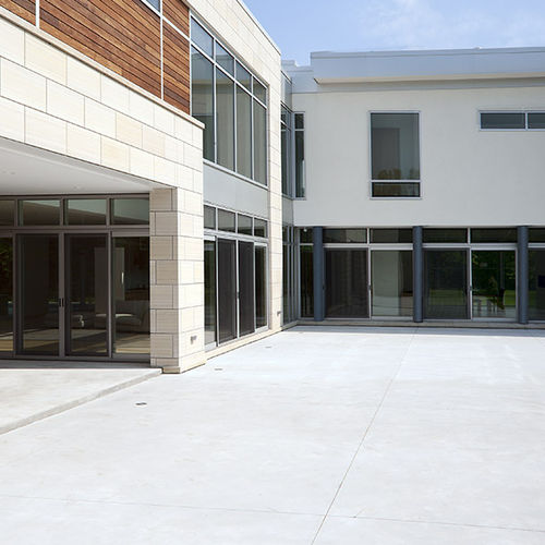 einflügelige Fenstertür / Aluminium / 3-Fach-Verglasung / wärmeisoliert