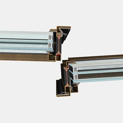 Stahl-Türprofil / mit Wärmedämmung