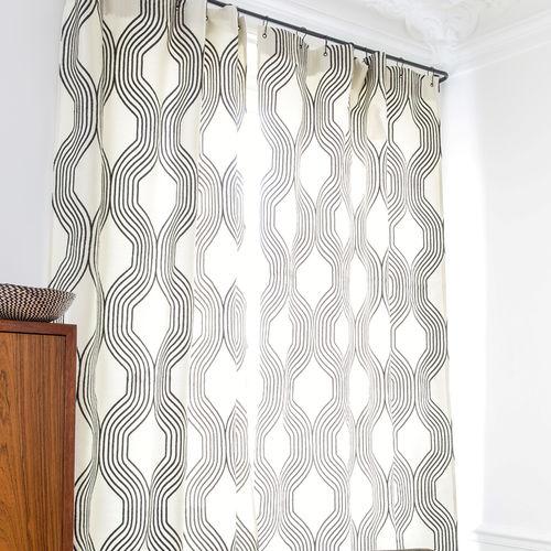 Möbelstoff / für Gardinen / Motiv / Polyester COLLINS : GRAPHITE Larsen