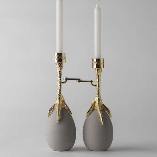Stahl-Kerzenhalter / Beton