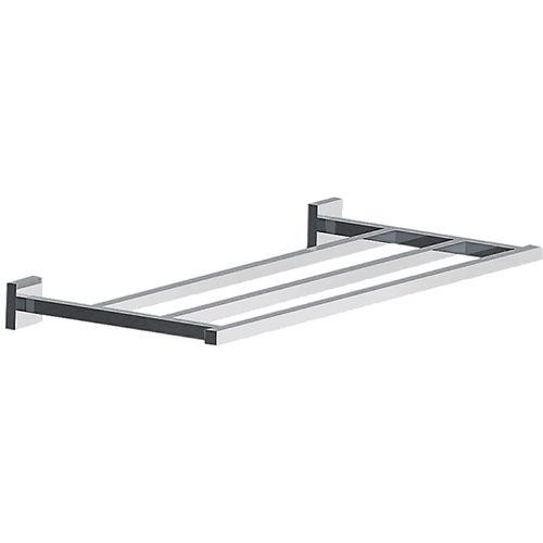 wandmontiertes Regal / modern / verchromtes Metall / für Badezimmer