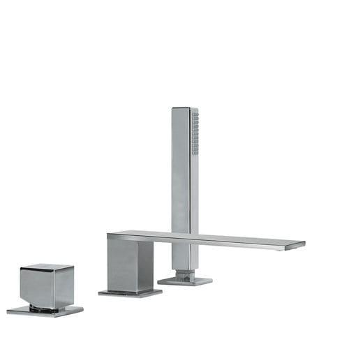 Einhebelmischer für Duschen / für Badewanne / für Theken / verchromtes Metall