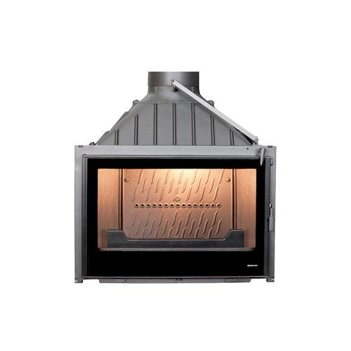 Geschlossene Feuerstelle / Holz / 1 Sichtseite / aus Gusseisen