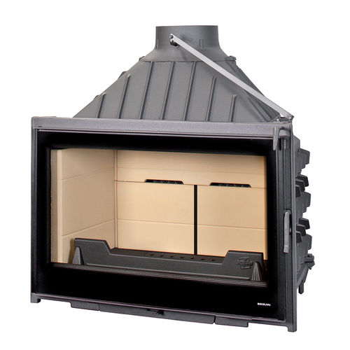 Geschlossene Feuerstelle / Holz / 1 Sichtseite / Gusseisen