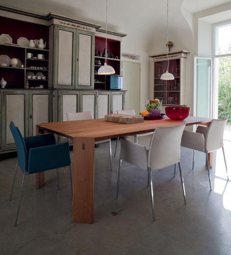 moderner Stuhl / mit Armlehnen / Polster / mit abnehmbaren Bezug