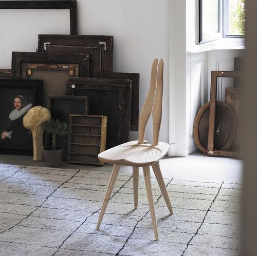 Stuhl / originelles Design / aus Ahorn / von Carlo Mollino