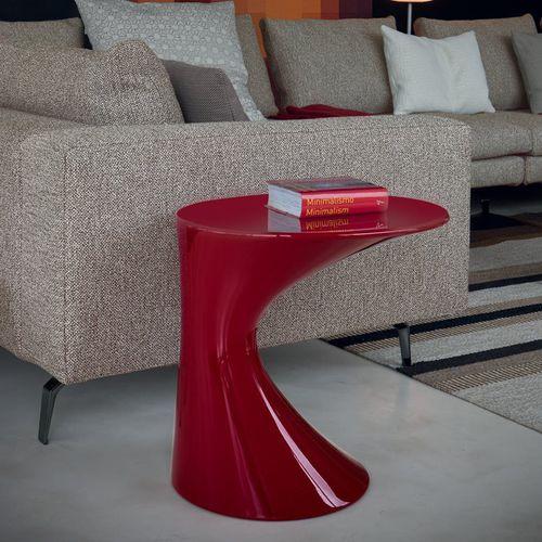 moderner Beistelltisch / Polypropylen / rund / rot