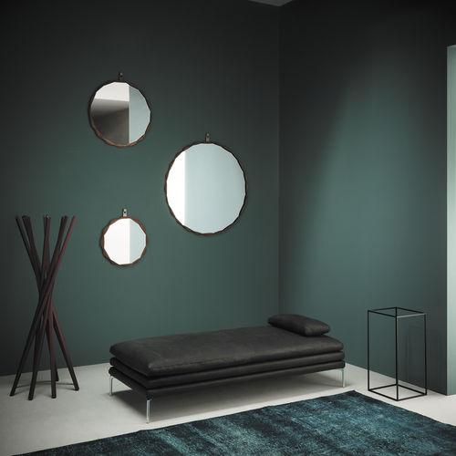 wandmontierter Spiegel / modern / rund / Metall