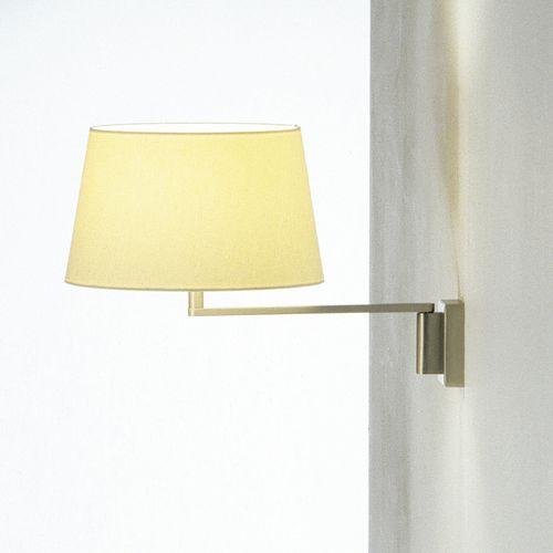 moderne Wandleuchte / Metall / Leinen / LED
