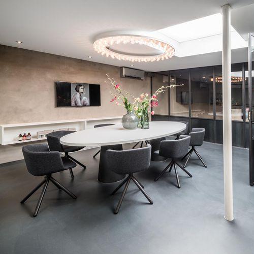 Deckenleuchte / originelles Design / rund / Glas / Aluminium