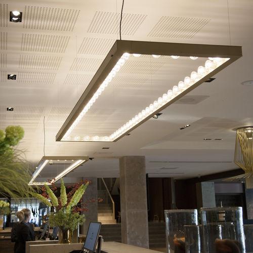 Hängeleuchte / LED / quadratisch / rechteckig