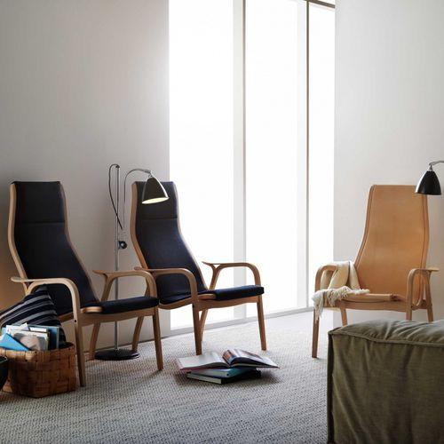 Sessel / Skandinavisches Design / aus Buche / aus Eiche / Stoff