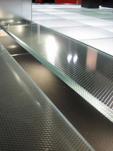 Flachglas / ESG Glas / Sicherheit / Ornament / für Stufen