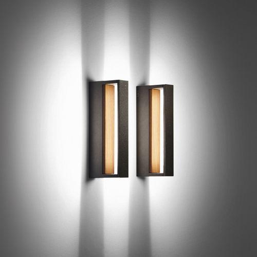 Moderne Wandleuchte / Außen / Glas / aus Teakholz COOL by Matteo Thun Simes