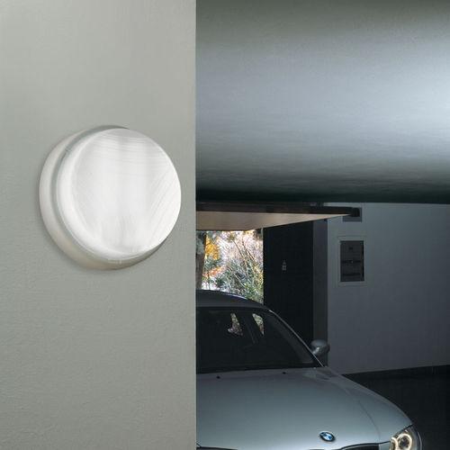 moderne Wandleuchte / Außenbereich / Milchglas / Aluminium