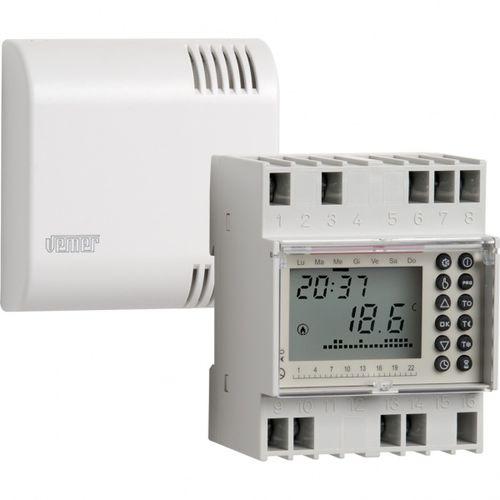 programmierbares Thermostat / DIN-Schiene / wandmontiert / für Heizungen