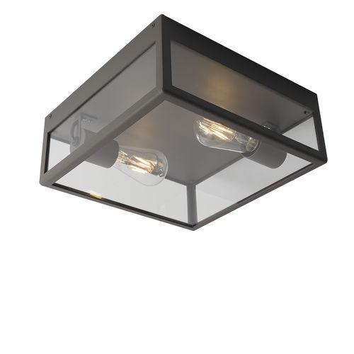 moderne Deckenleuchte / quadratisch / Edelstahl / LED