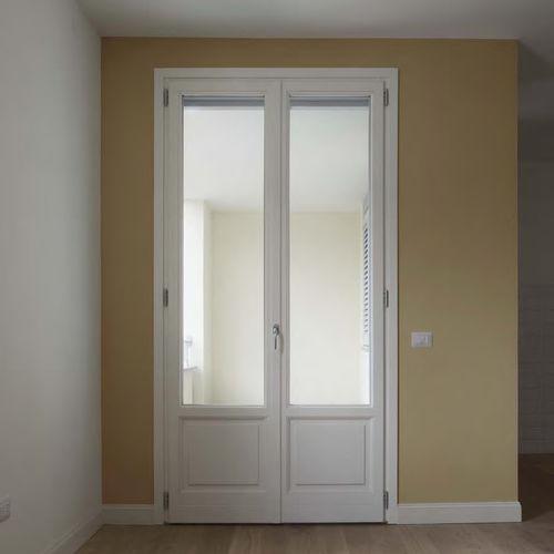einflügelige Fenstertür / Holz / mit Wärmedämmung