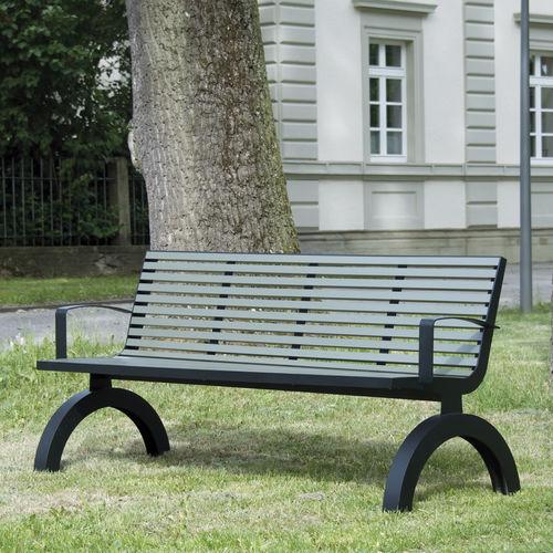 Parkbank / klassisch / Aluminium / Edelstahl - COMFONY 140 - BENKERT ...