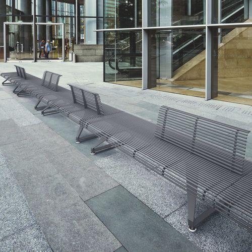 Parkbank / modern / Stahl / Aluminium