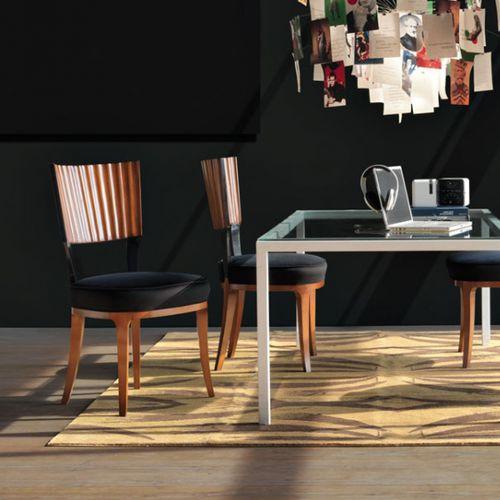 klassischer Stuhl / Polster / Holz