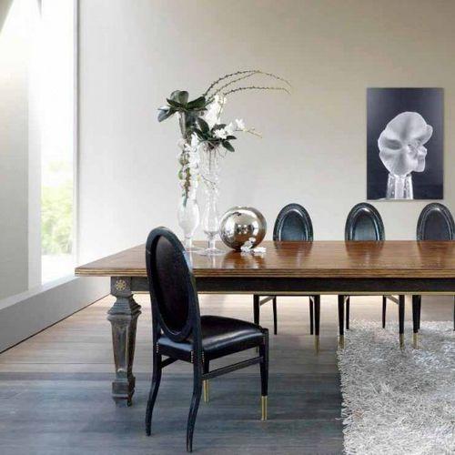 Stuhl / Art Deco / Medaillon / Holz