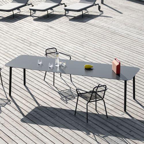moderner Tisch / Edelstahl / HPL / Keramik