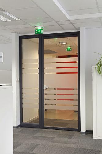 Innenbereich-Tür / einflügelig / Aluminium / für öffentliche Einrichtungen