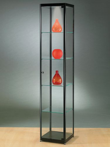 moderne Vitrine / Glas / Holz / Aluminium