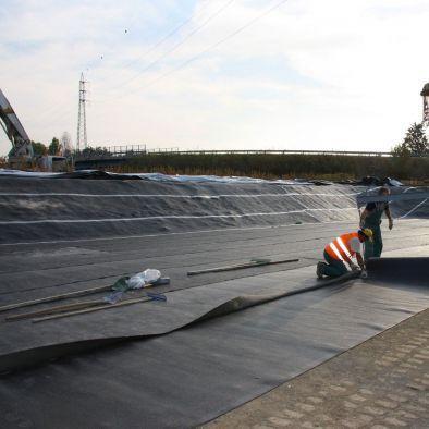 Sicherheits-Abdichtungsbahn / für Drainage / für Vorge te für Stützmauern / in Rollenform
