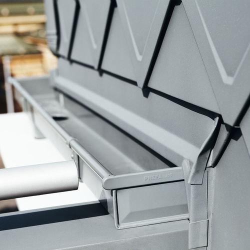 Quadratische Regenrinne / Aluminium / wartungsfrei BOX PREFA Aluminiumprodukte GmbH