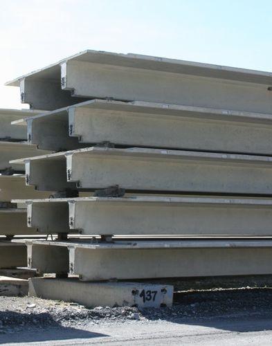 Vorgefertigte Dielendecke / Stahlbeton / für Brücke CARBONCAST® DOUBLE TEE High Concrete