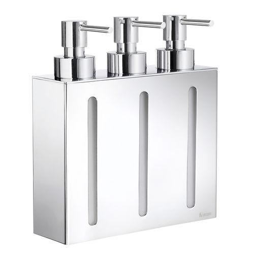 Seifenspender für Hotels / wandmontiert / aus verchromtem Messing / manuell