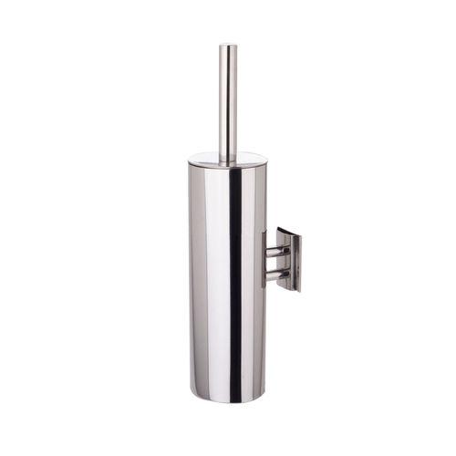 Edelstahl-Toilettenbürste / Kunststoff / wandmontiert / für Hotels
