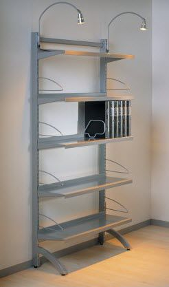 wandmontiertes Regal / modern / Metall / für Büro