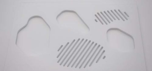 Dekorplatte aus Corian® / Massivholz / wandmontiert / 3D
