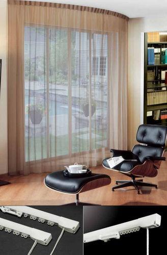 Vorhangschiene mit Leinenbetätigung / für Deckenmontage / für drapierte Vorhänge / Privatgebrauch