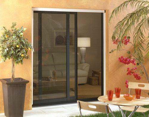 feststehender Insektenschutz / Schiebe / Roll / für Fenstertür
