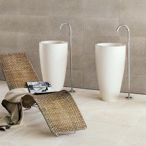 Neutra Waschbecken freistehendes waschbecken rund aus naturstein modern baobab