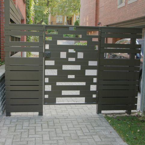 Aluminium-Gartentor