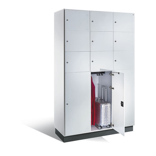 Stahl-Garderobenschrank / für öffentliche Einrichtungen / Objektmöbel